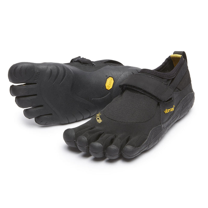 Women's Vibram Five Fingers KSO Training Shoe in Black/Black from the front