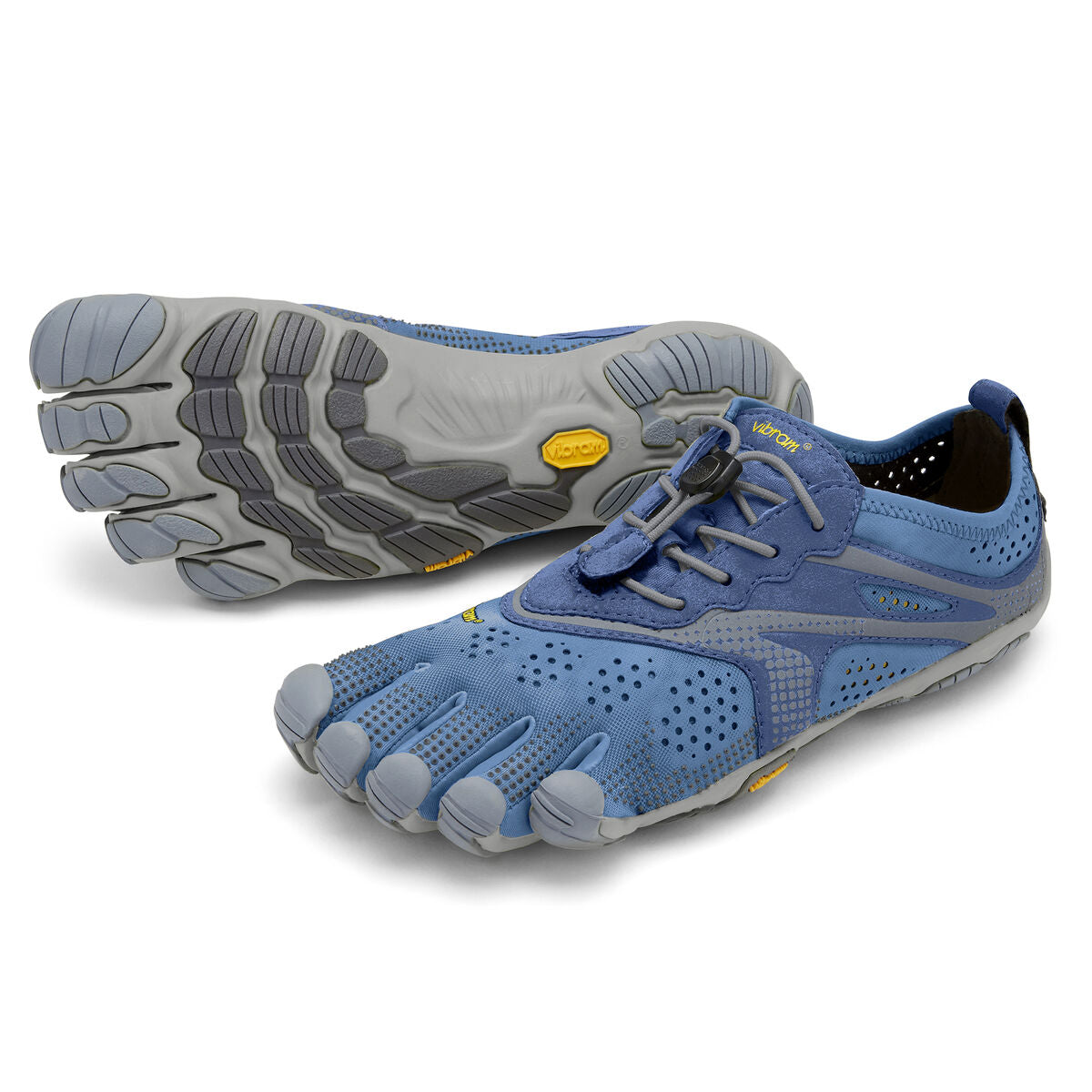 Women's Vibram Five Fingers V-Run Running Shoe in Blue/Blue from the front