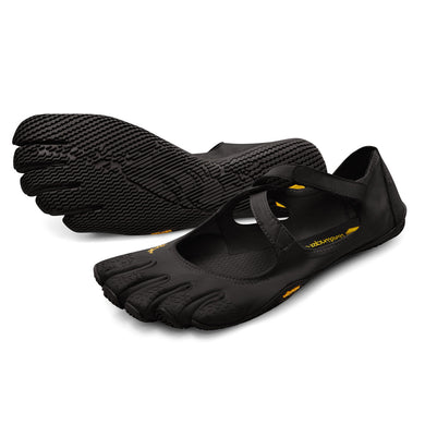 Women's Vibram Five Fingers V-Soul Training Shoe in Black from the front