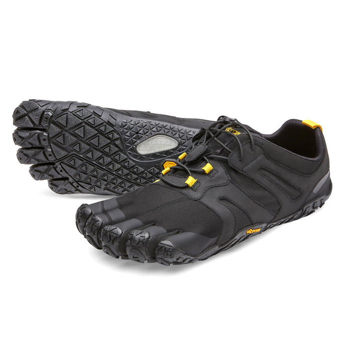 Women's Vibram Five Fingers V-Trail 2.0 Running Shoe in Black/Yellow from the front