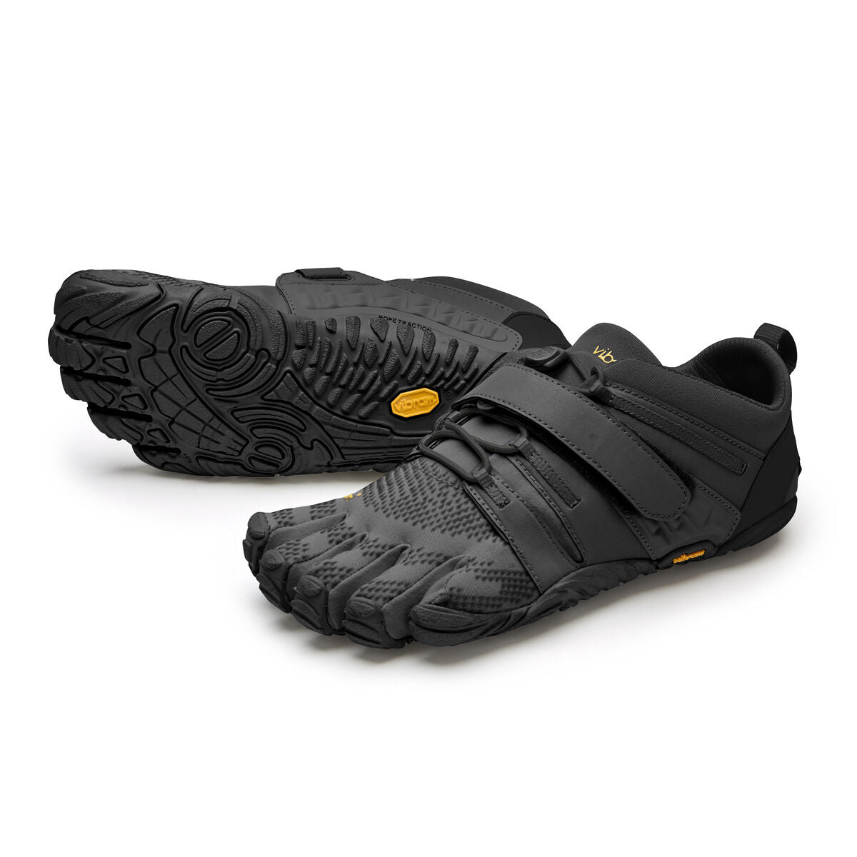 Women's Vibram Five Fingers V-Train 2.0 Fitness and Training Shoe in Black/Black from the front