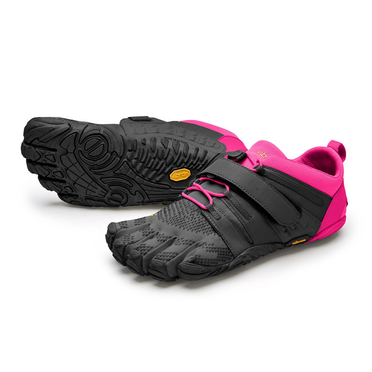 Women's Vibram Five Fingers V-Train 2.0 Fitness and Training Shoe in Black/Pink from the front