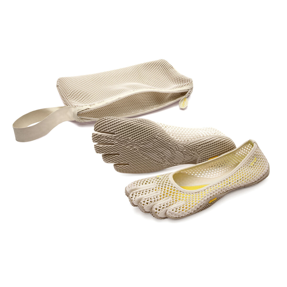 Women's Vibram Five Fingers Vi-B Training Shoe in White Cap from the front