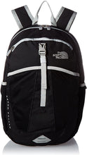 Load image into Gallery viewer, Youth The North Face Recon Squash Backpack in TNF Black/High Rise Grey from the front