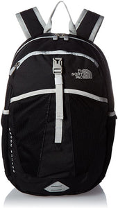 Youth The North Face Recon Squash Backpack in TNF Black/High Rise Grey from the front