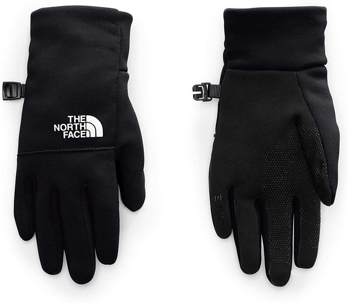 Youth The North Face Recycled Etip Glove in TNF Black from the front