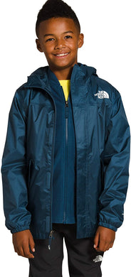 Youth The North Face Stormy Rain Triclimate Jacket in Blue Wing Teal
