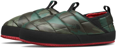 Youth The North Face Thermoball Traction Mule II Slipper in Evergreen Mountain Camo Print/TNF Black
