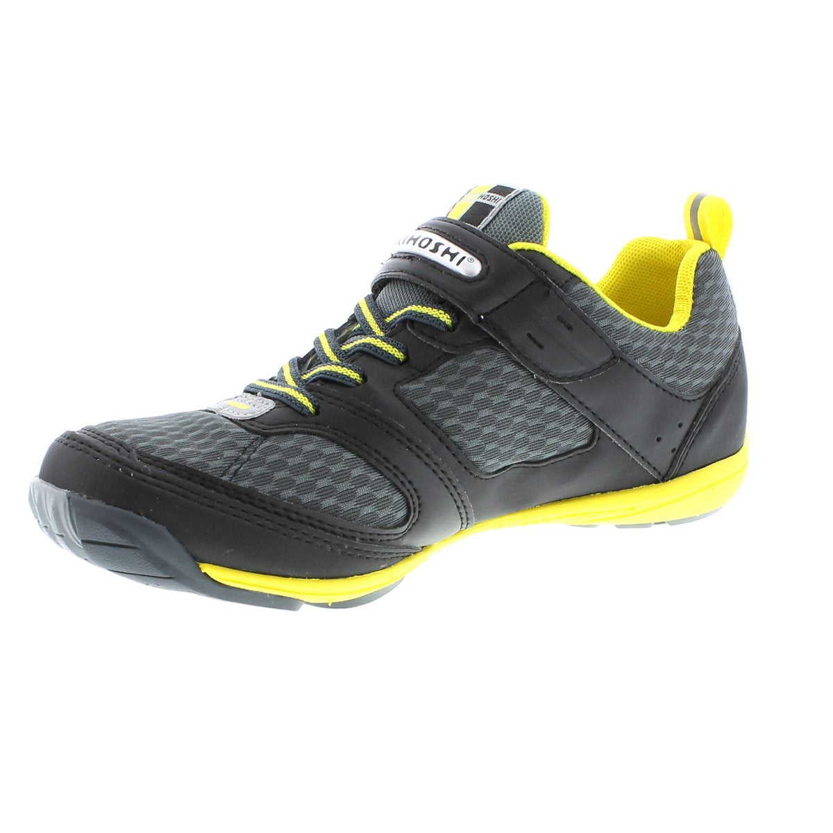 Youth Tsukihoshi Mako Sneaker in Black/Yellow from the front view