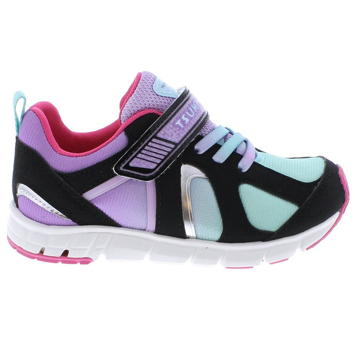 Youth Tsukihoshi Rainbow Sneaker in Black/Mint from the side view
