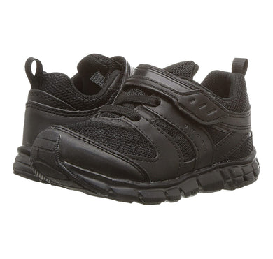Youth Tsukihoshi Velocity Sneaker in Black/Black from the front view