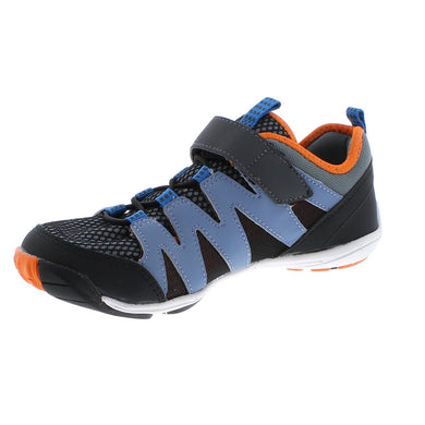 Youth Tsukihoshi Wave Sneaker in Black/Orange from the front view