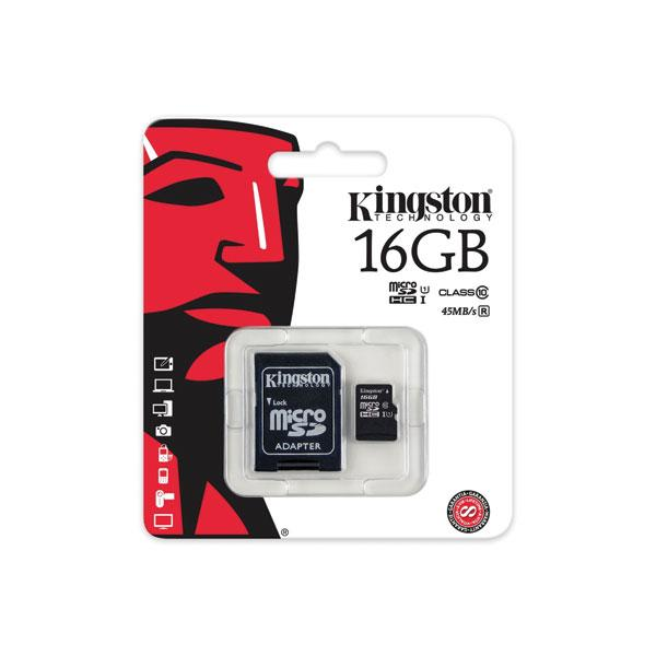 Kingston Micro SD Card Class 10 16GB