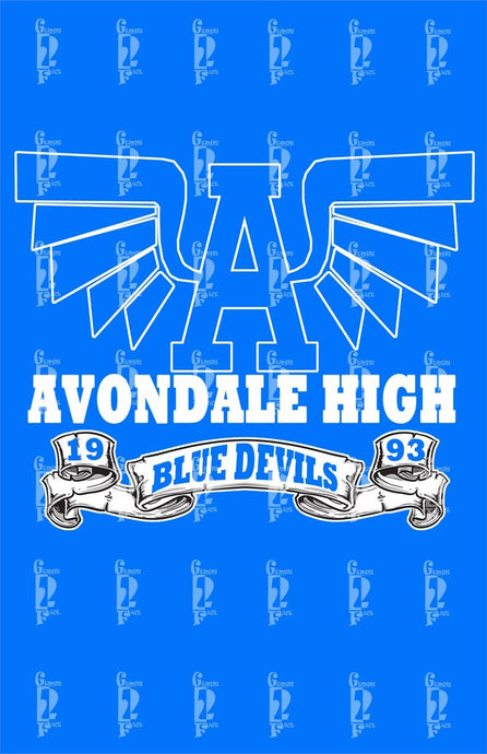 Avondale Alumni Tee (words on back)- I Shirt Gemini2face Art E-Store