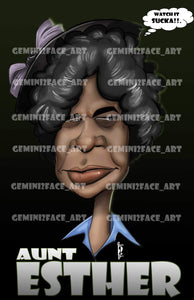 Aunt Esther PNG File Gemini2face Art E-Store