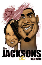 Load image into Gallery viewer, Caricature Couple (Headshot)