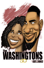 Load image into Gallery viewer, Caricature Couple Custom Caricature Gemini2face Art E-Store