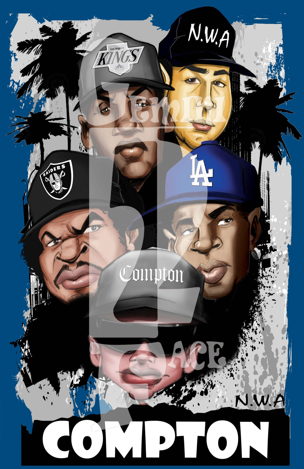 NWA (w/background) PNG PNG File Gemini2face Art E-Store
