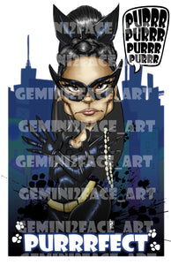 Cat Woman PNG PNG File Gemini2face Art E-Store