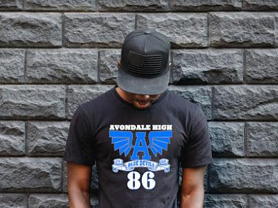Avondale Alumni Tee (words on back)- II Shirt Gemini2face Art E-Store