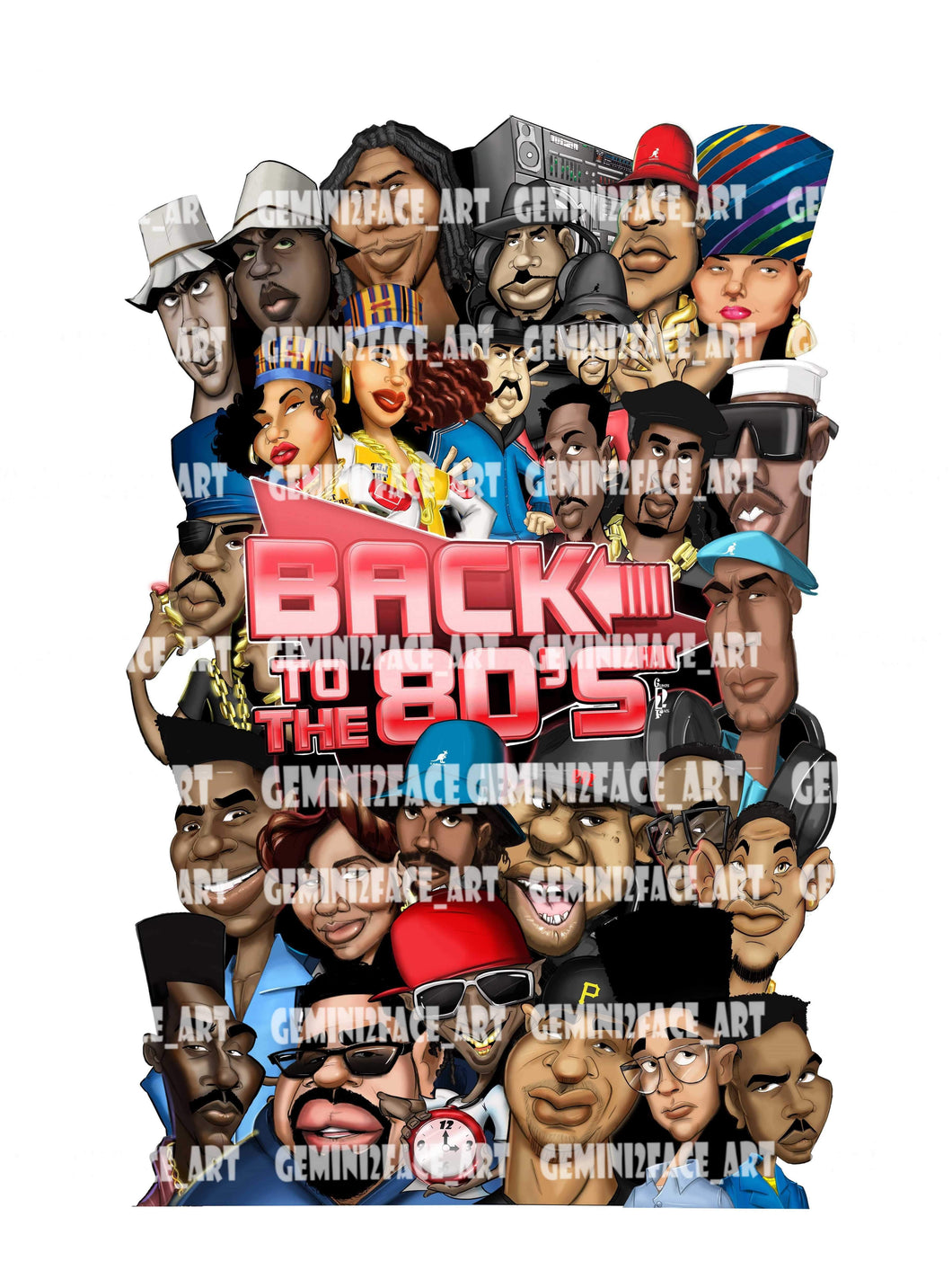Back To The 80's (Hip-Hop Mural) Print Gemini2face Art E-Store