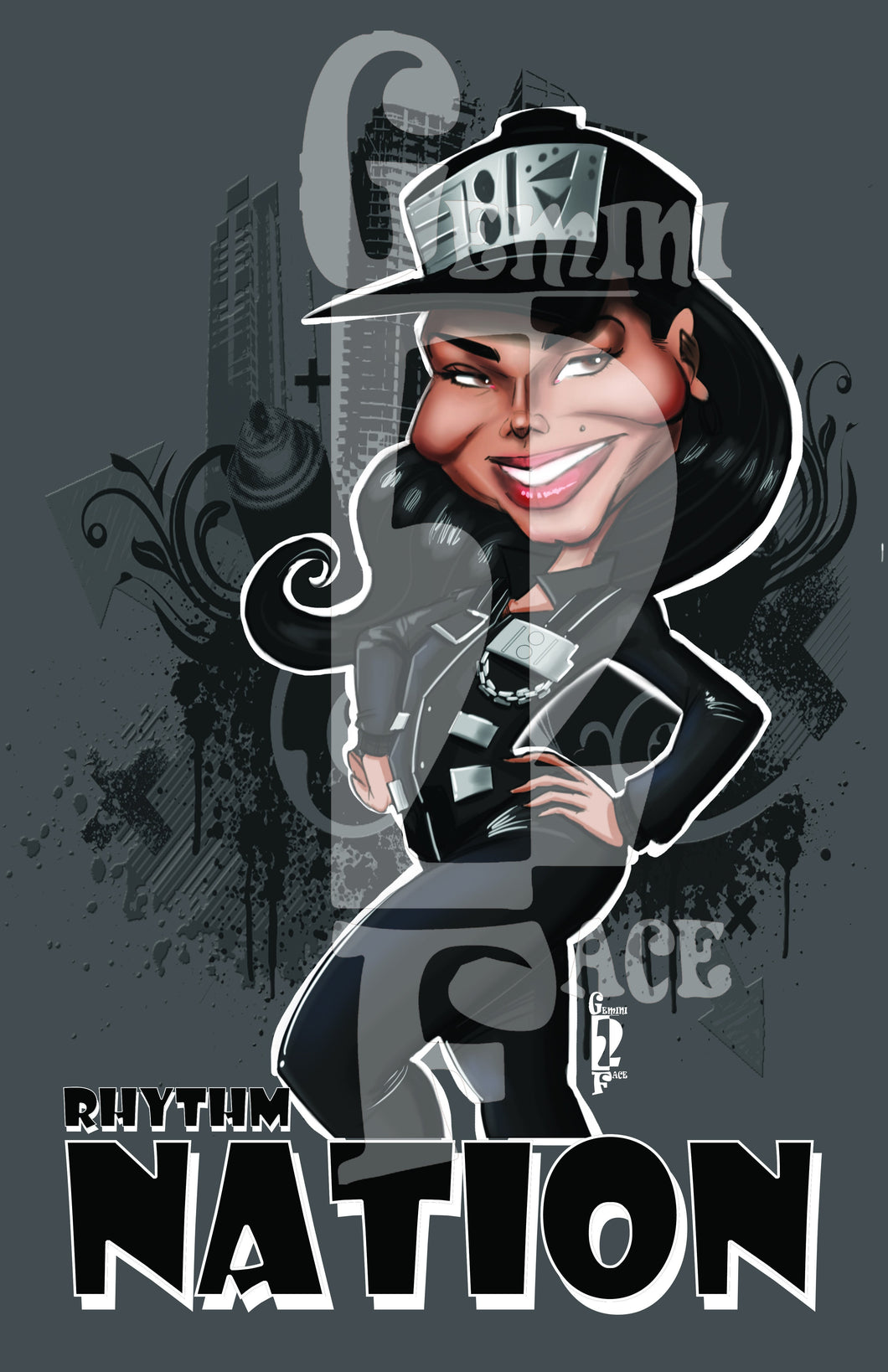Janet (w\background) PNG PNG File Gemini2face Art E-Store