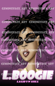 Lauryn Hill PNG PNG File Gemini2face Art E-Store