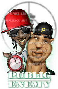 Public Enemy PNG PNG File Gemini2face Art E-Store