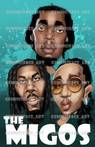 The Migos PNG PNG File Gemini2face Art E-Store