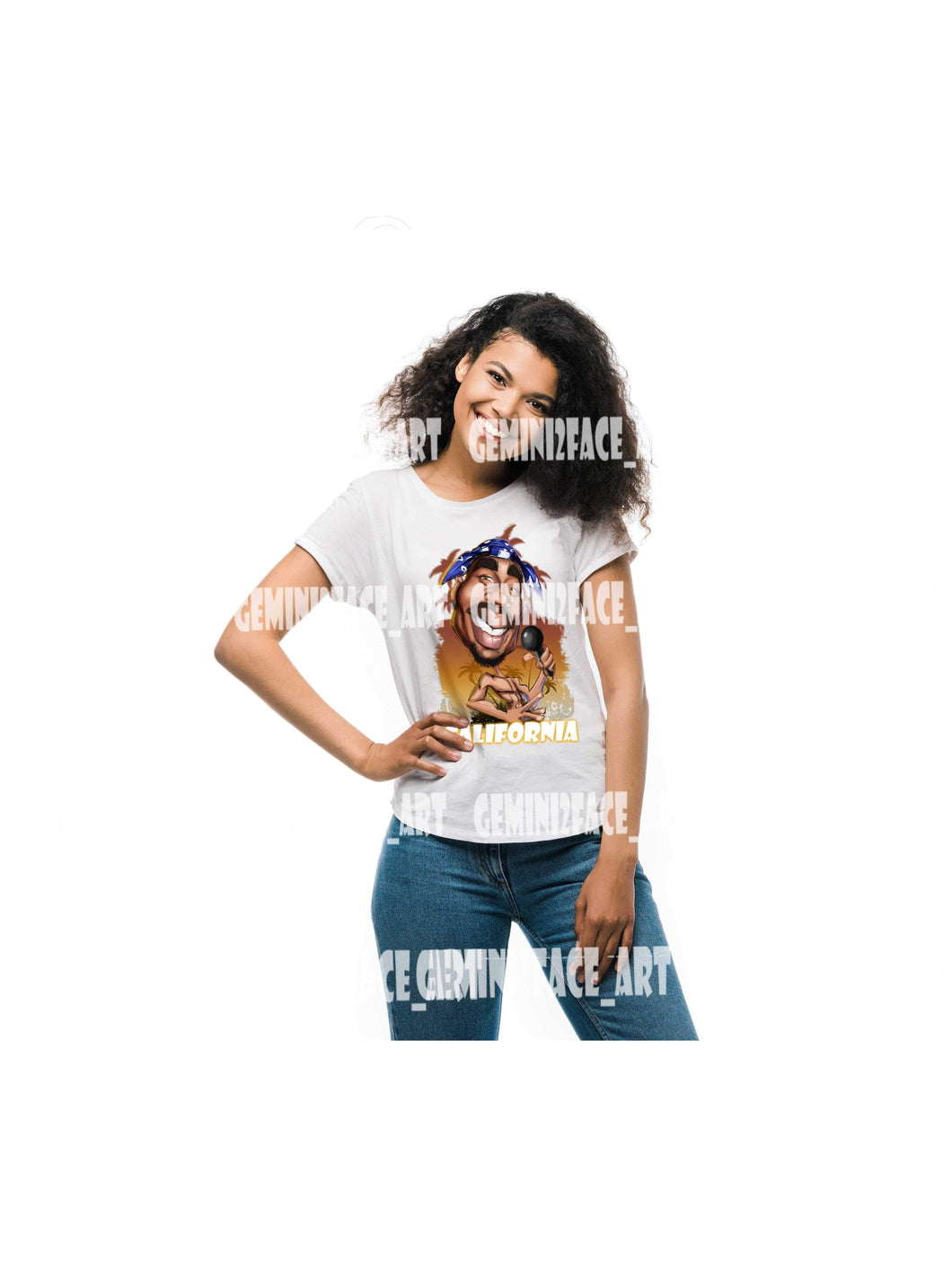 California Love Shirt Gemini2face Art E-Store