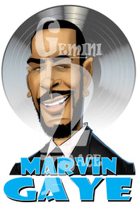 Marvin Gaye w/background (basic) BOGO PNG PNG File Gemini2face Art E-Store