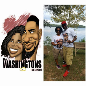 Caricature Couple Custom Caricature Gemini2face Art E-Store