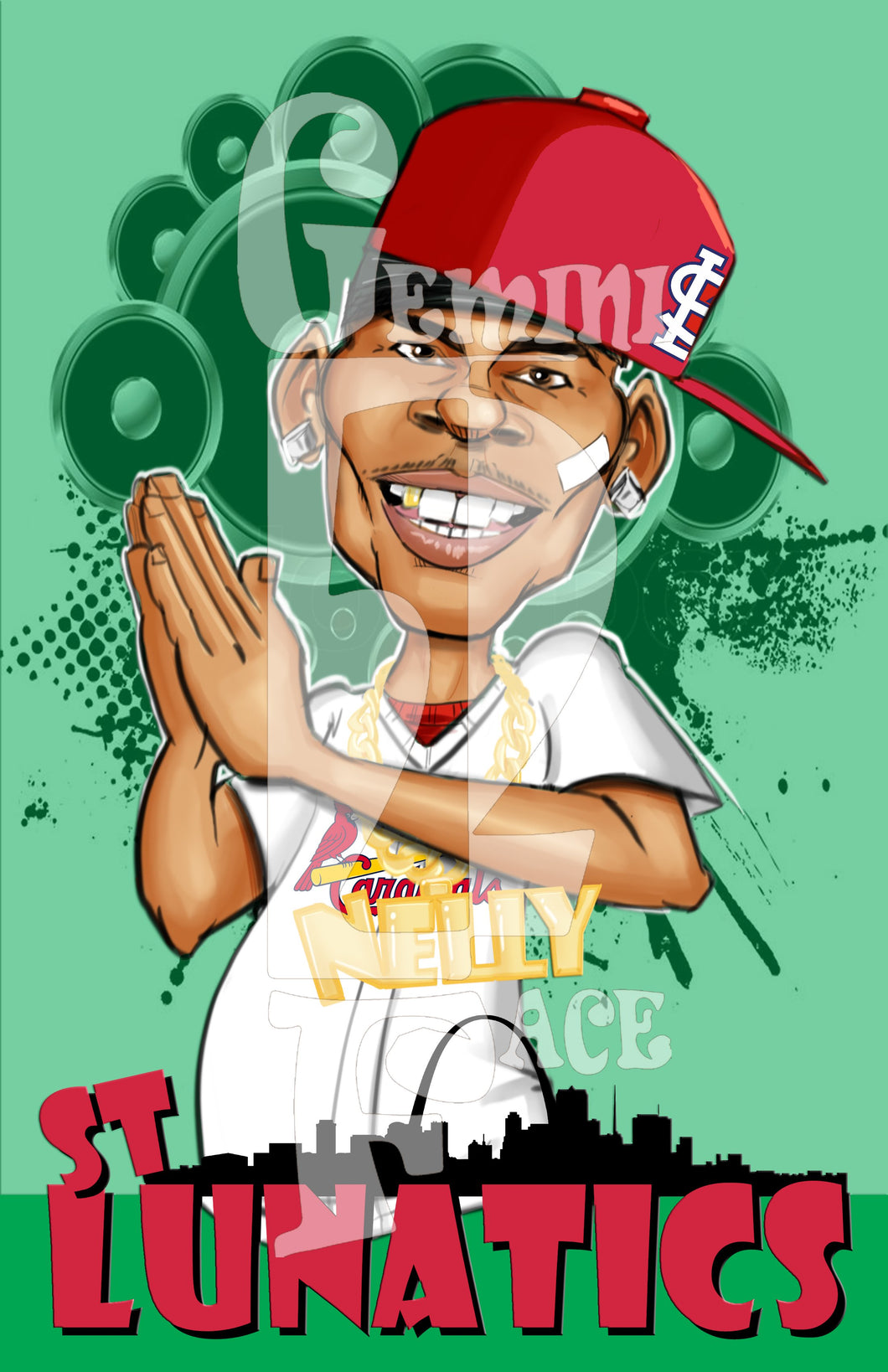Nelly w/background (exclusive) PNG PNG File Gemini2face Art E-Store