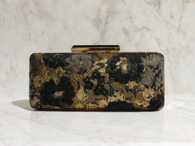 Gold Flowered Clutch