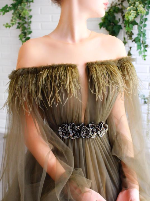 Teuta Matosh Duriqui Lily's Pretty Feathers Gown  Regular price