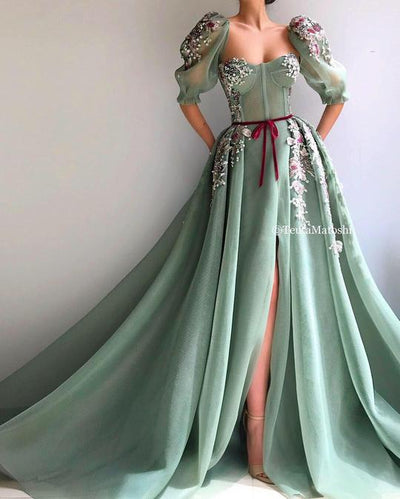 TEUTA MATOSHI Mossy Bloom Gown