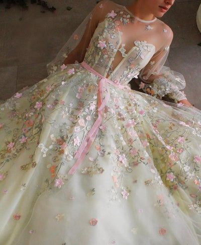 TEUTA MATOSHI Dreamy Valley Flowers Gown