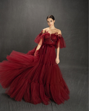 Charming Carmine Gown by Teuta Matoshi Duriqi