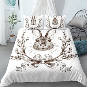 3D Bunny Love Comforter Bedding Sets for Kids - Ritzier