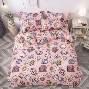Blossom Floral Design Bedding Sets With Quilt Cover - Ritzier