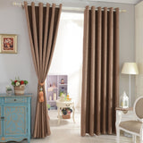 Faux linen drape curtain