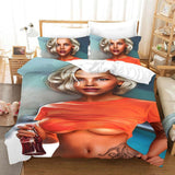 African girl bedding set king size luxury  duvet cover set with pillowcase comforter set bed linen twin bed set bedclothes