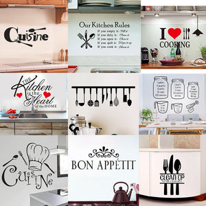 Happy Kitchen Wall Stickers