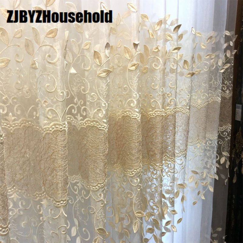 European Window Curtain Tulles for Living Dining Room Bedroom