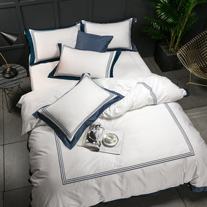 5-Star Hotel 100% Luxury Egyptian Cotton Bedding Set With Duvet Cover - Ritzier