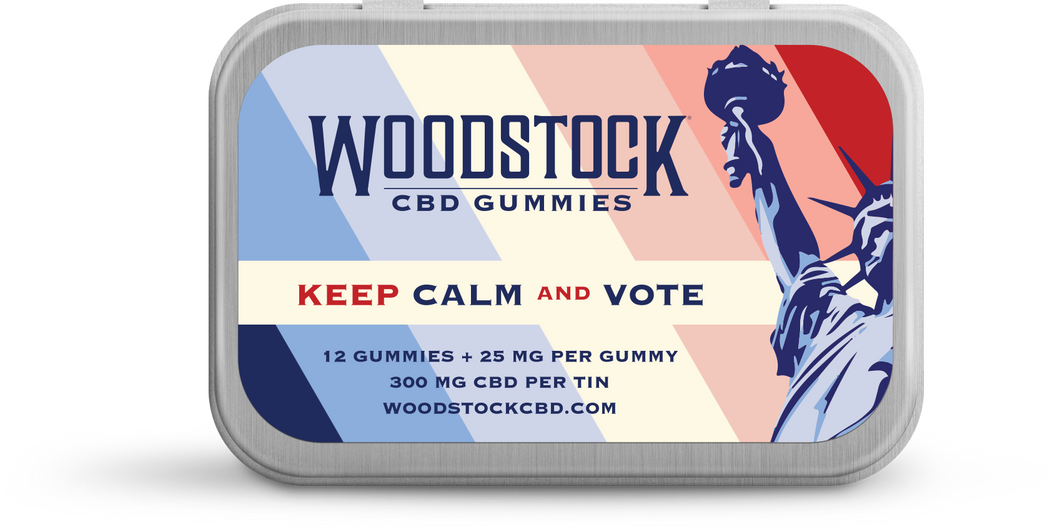 KEEP CALM AND VOTE CBD GUMMIES