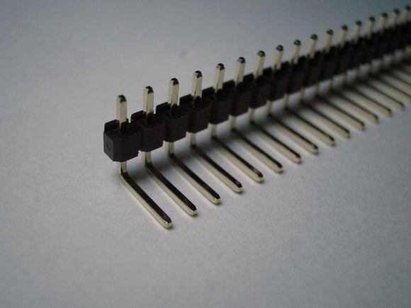 Single Row Right Angle Male Pin Header 40-pin