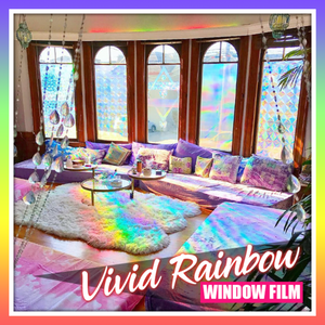 Vivid 3D Rainbow Window Film