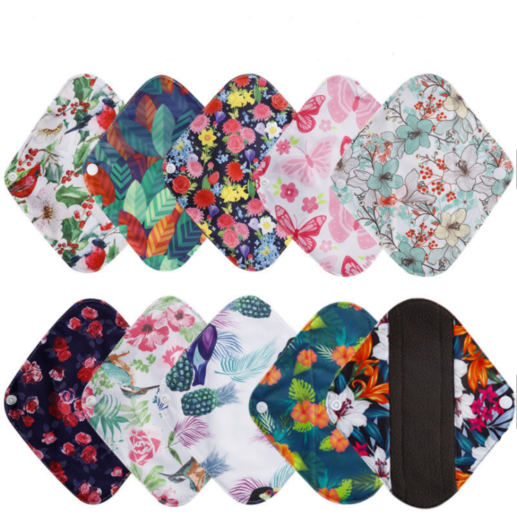 Reusable Bamboo Menstrual Pads - 10 Pack