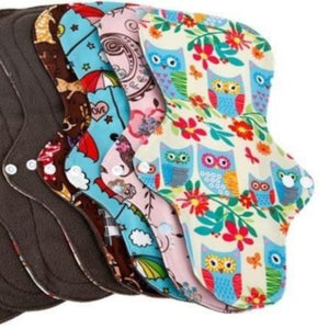 Reusable Bamboo Heavy Menstrual Pads - 10 Pack